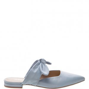 Mule Arezzo Aberta Lace Up Couro Vintage Blue | Outstore