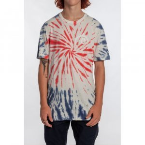 Camiseta Especial Eight Ball Masculino Volcom Tie Dye - M