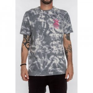 Camiseta Especial Jagged Masculino Volcom Cinza Tie Dye - P