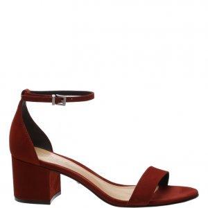 Sandã¡lia Schutz Minimal Block Heel Nobuck Red | Outstore
