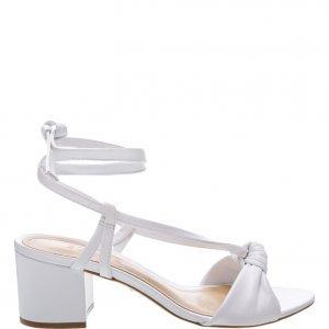 Sandália Schutz Medium Heel Aventura White | Outstore