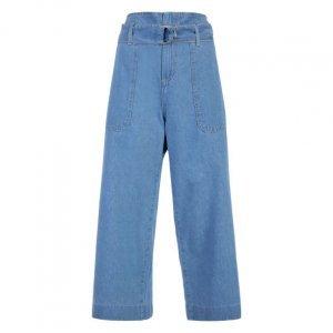 Calça Jeans Pantacourt Com Cinto