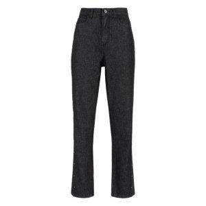 Calça Jeans Slim Recorte Aplicações