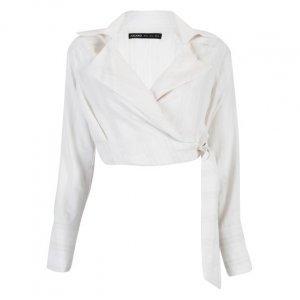 Camisa Viscose Gola Blazer Amarração Lateral