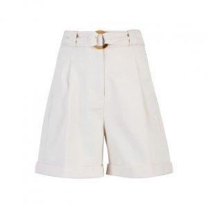Shorts Sarjado Com Argola De Resina