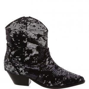 Cowboy Schutz Boot Paetes Black | Outstore