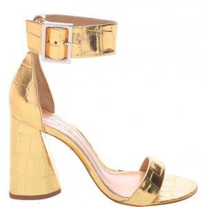Sandã¡lia Schutz Salto Cone Golden | Outstore
