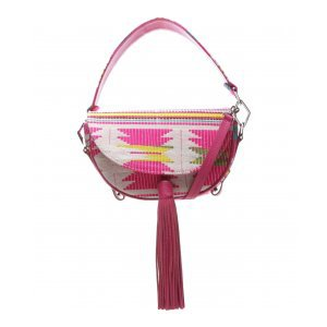 Saddle Schutz Bag Print Neon Pink | Outstore