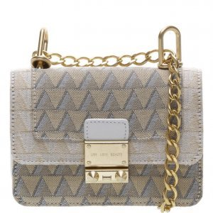 Crossbody Schutz Mini Jacquard Triangle White | Outstore
