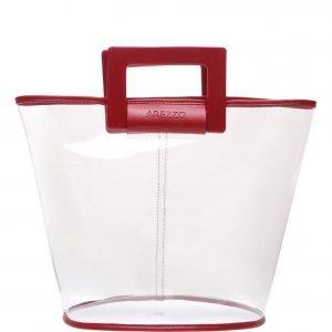 Bolsa Arezzo Shopping Média Transparente Royal Red | Outstore