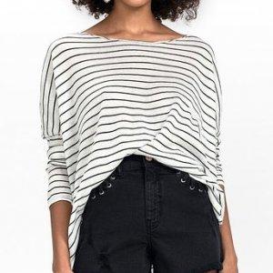 Suéter Em Tricô Listrado Com Shape Fluido