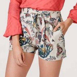 Shorts Feminino Estampado Com Faixa