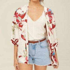 Kimono De Viscose Estampado