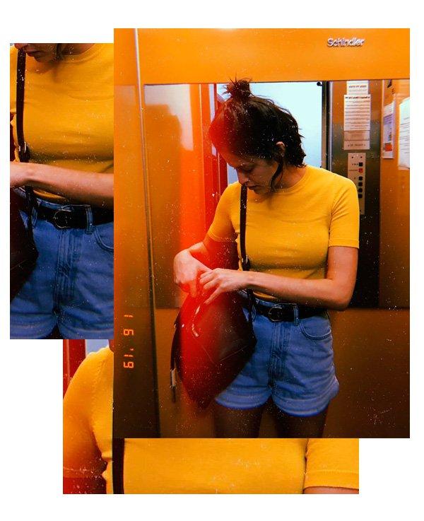 Agatha Moreira - blusa-amarela - jeans - verão - street-style