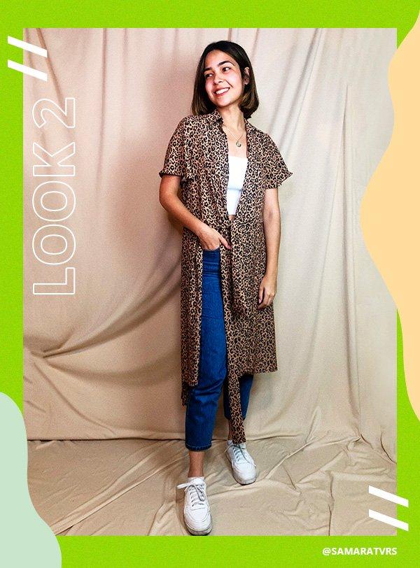 samara - look - animal print - vestido - como blusa