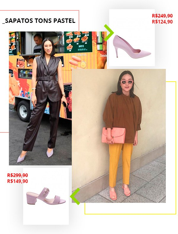sapatos - tons - pastel - black friday - looks