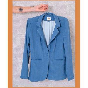 Blazer Oversized Azul - G Azul
