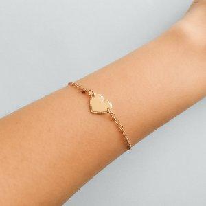 Pulseira Heart - U Dourado