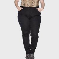 calça skinny plus size - preto-50
