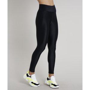 Calça Legging Feminina Esportiva Ace Texturizada Preta