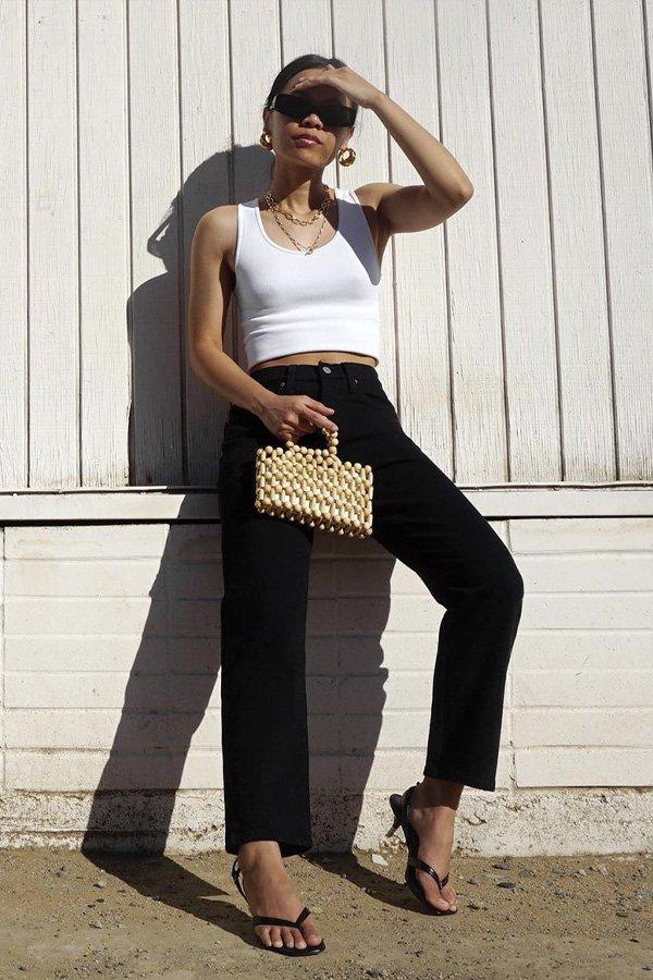 Chinda Phraph -      - calça preta - verão - street style