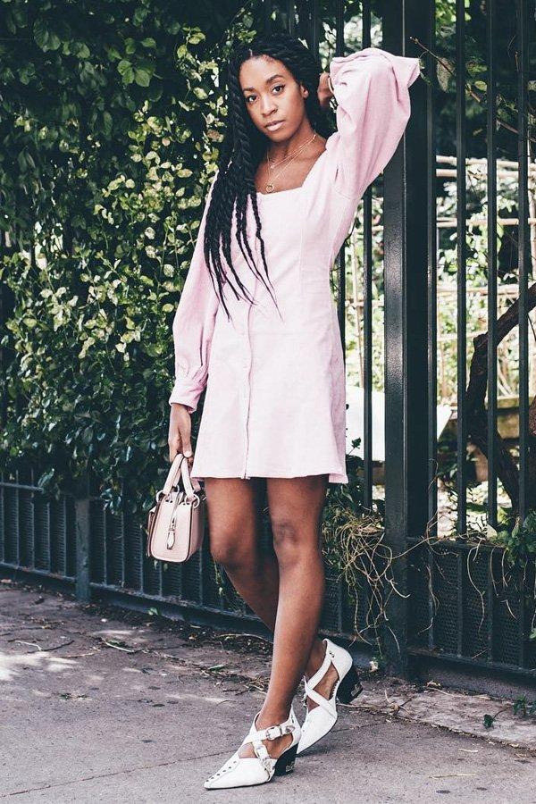 Chrissy Rutherford - vestido manga bufante - vestidos - verão - street style
