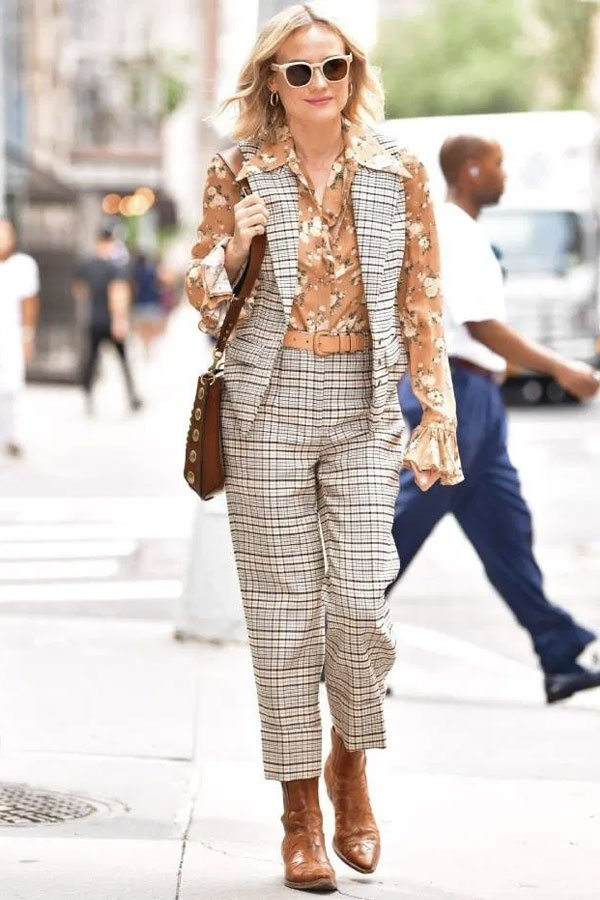 Diane Kruger -      - colete - verão - street style