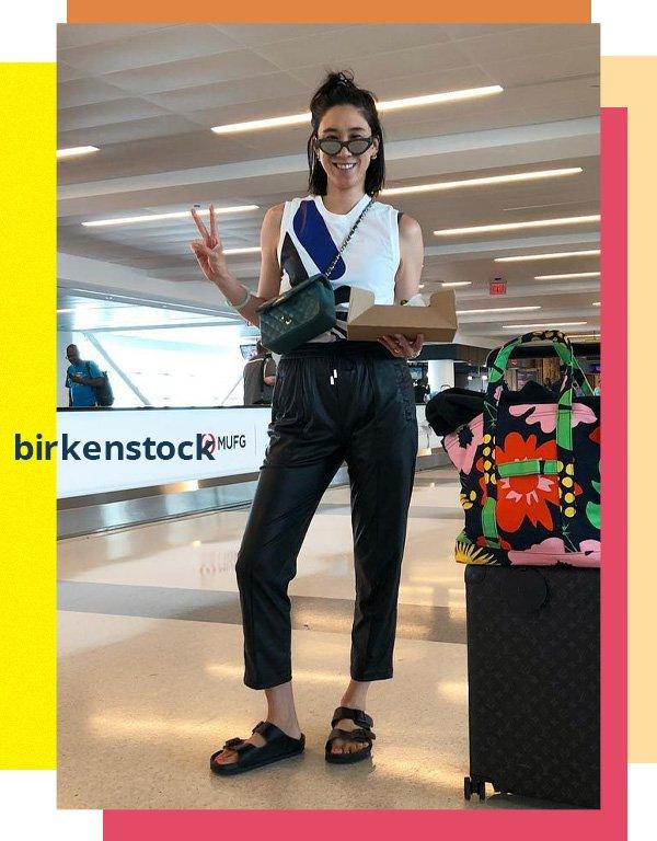 Eva Chen -     - birkenstock - verão - street style