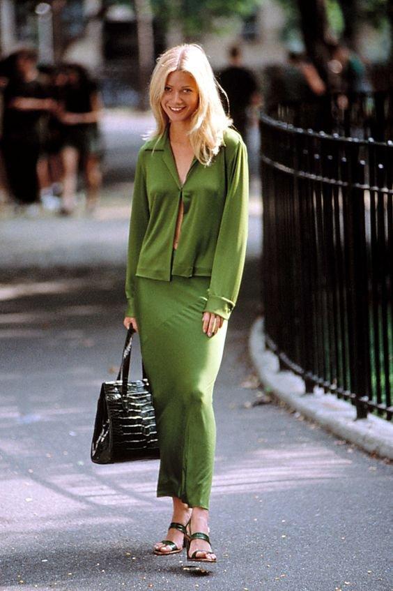 Gwyneth Paltrow-looks-anos-90-1 - Conjuntinho - Anos 90  - Primavera - Street Style