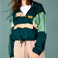 JAQUETA CROPPED GROOVY GREEN