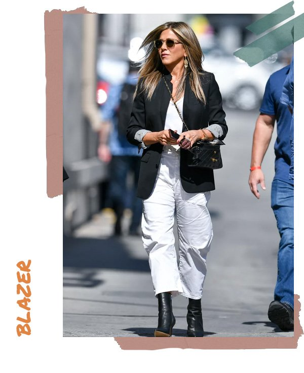 Jennifer Aniston -       - blazer - verão - street style