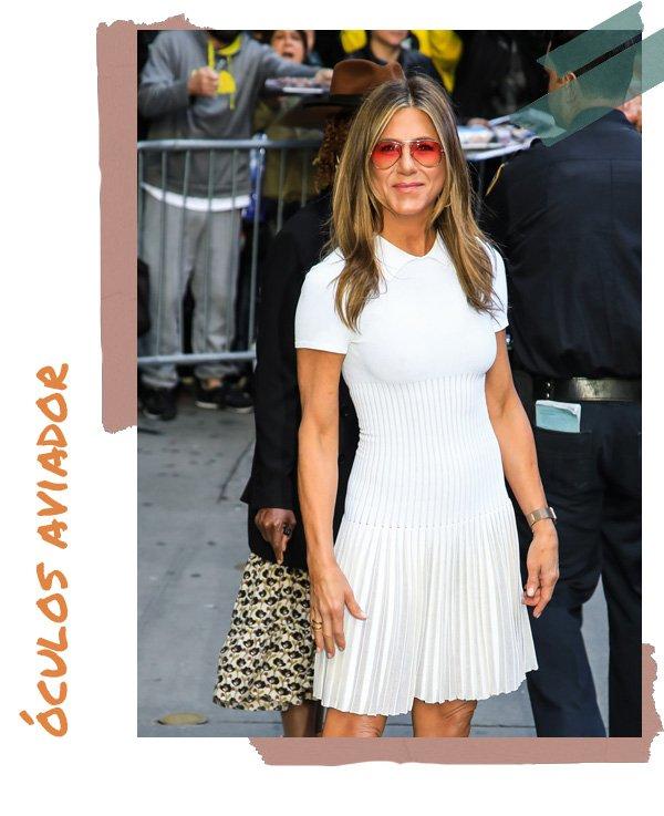 Jennifer Aniston -       - óculos aviador - verão - street style