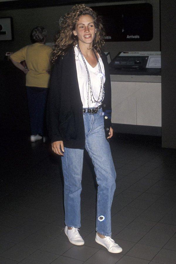 Julia Roberts - jeans e camiseta - jeans e camiseta - verão - street style