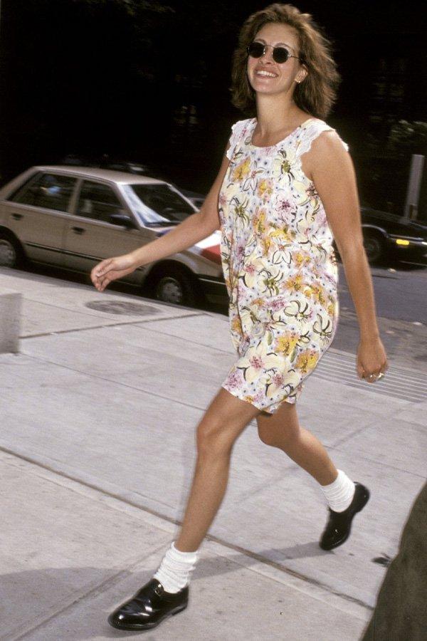 Julia Roberts - vestido florido - vestidos - verão - street style