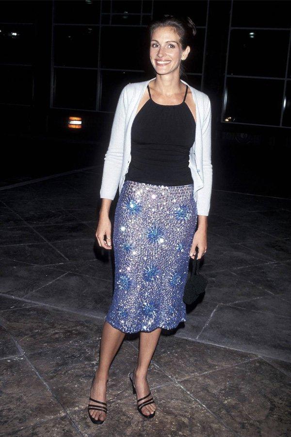 Julia Roberts - saia midi - saia midi - verão - street style