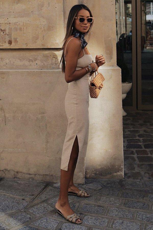 Julie Sariñana  - vestido de linho - vestidos - verão - street style
