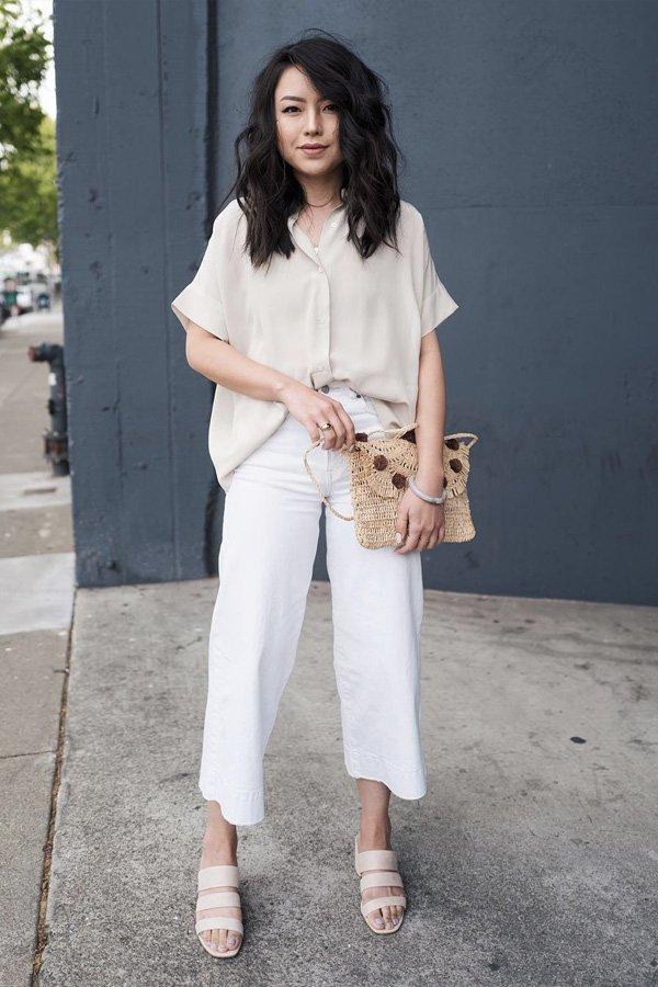 Kate Ogata -       - all white - verão - street style