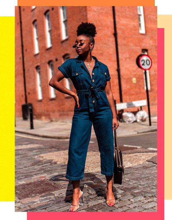 Uzy Nwachukwu - macacão - jeans - verão - street-style