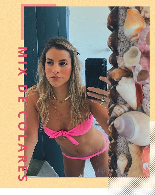 It girl - Mix de colares - Praia - Primavera - Street Style