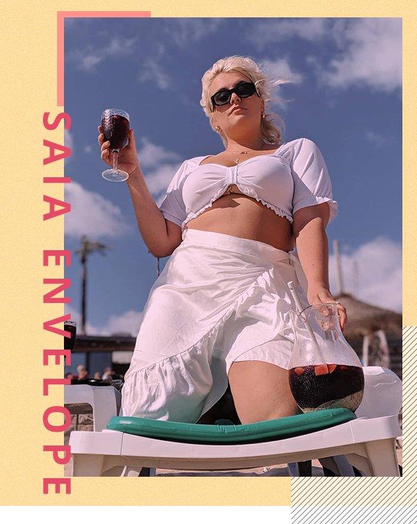 It girl - Saia envelope - Praia - Primavera - Street Style