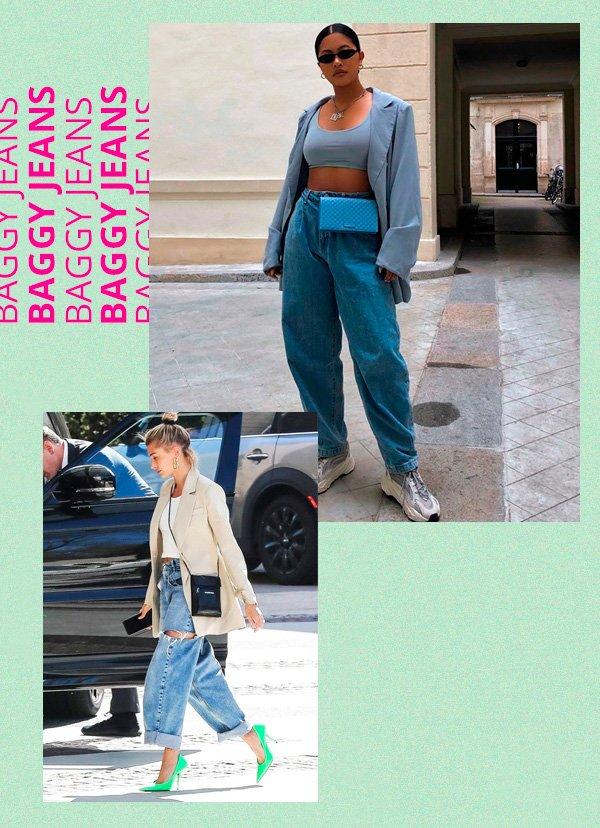 Hailey Baldwin - jeans - retrô - verão - street-style