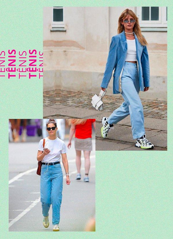 Katie Holmes - tênis - retrô - verão - street-style