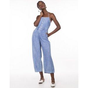 Macacão Feminino Jeans Frente Única