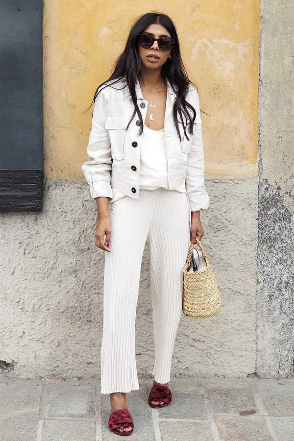 Monikh Dale -      - all white - verão - street style