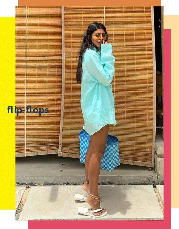 Monikh Dale -      - flip flop - verão - street style