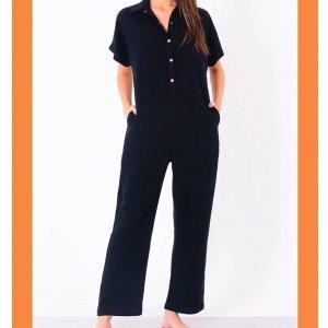 Macacao Camisa Longo Preto - P Preto