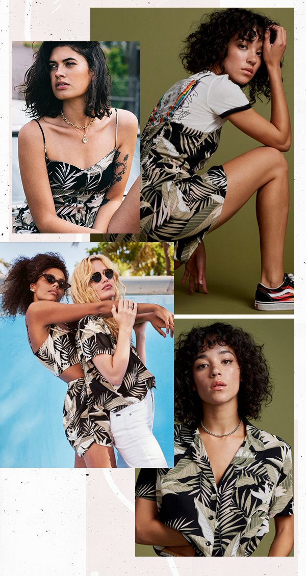 It girls - Volcom - Estampa floral - Verão - Street Style