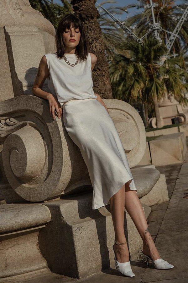 Paz Halabi -      - all white - verão - street style