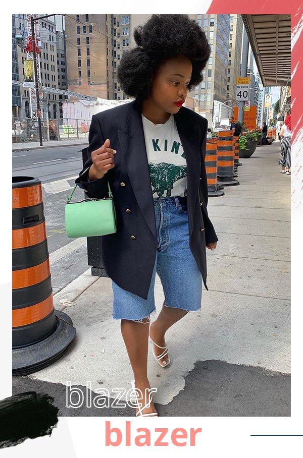 It girl - Blazer - Jeans - Primavera - Street Style