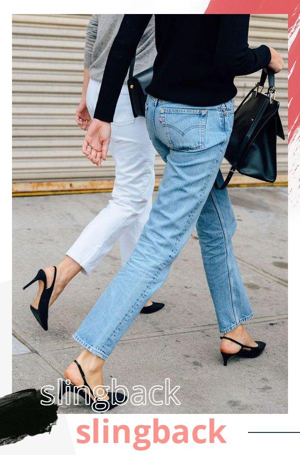 It girl - Slingback  - Jeans  - Primavera - Street Style
